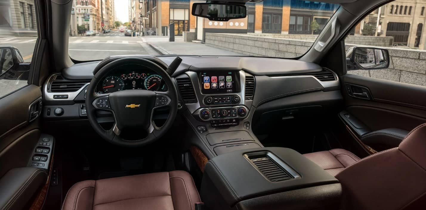 front interior of the 2020 Chevrolet Tahoe