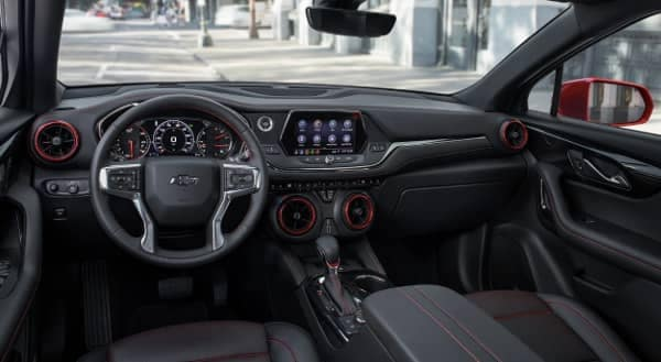 interior cabin of 2020 Chevy Blazer