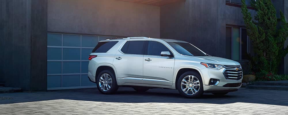 2020 Chevy Traverse In Driveway