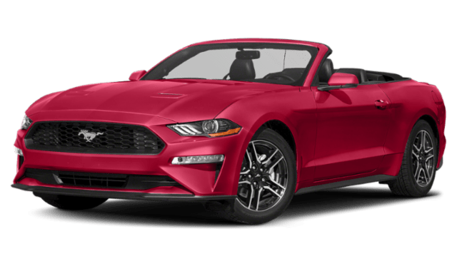 2020 Red Ford Mustang