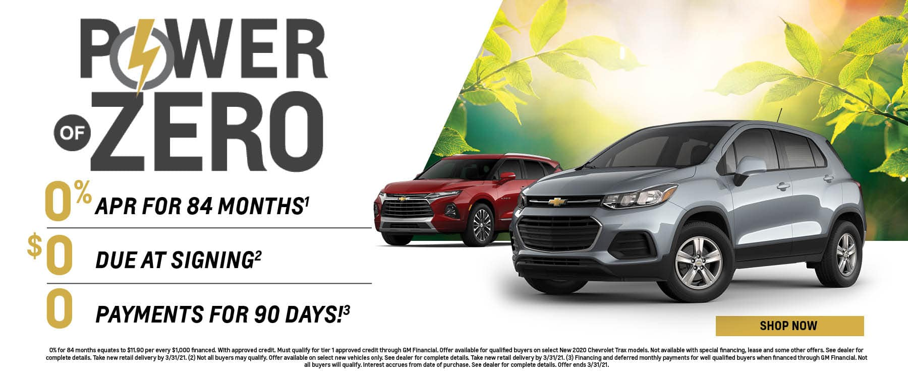Spring new Chevy Vehicles