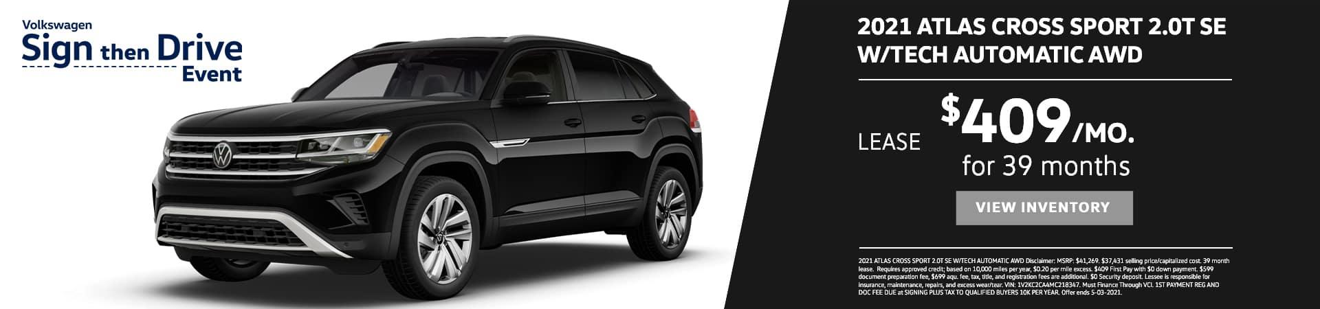 EAG_VW_2021 ATLAS CROSS SPORT 2.0T SE W_TECH AUTOMATIC AWD
