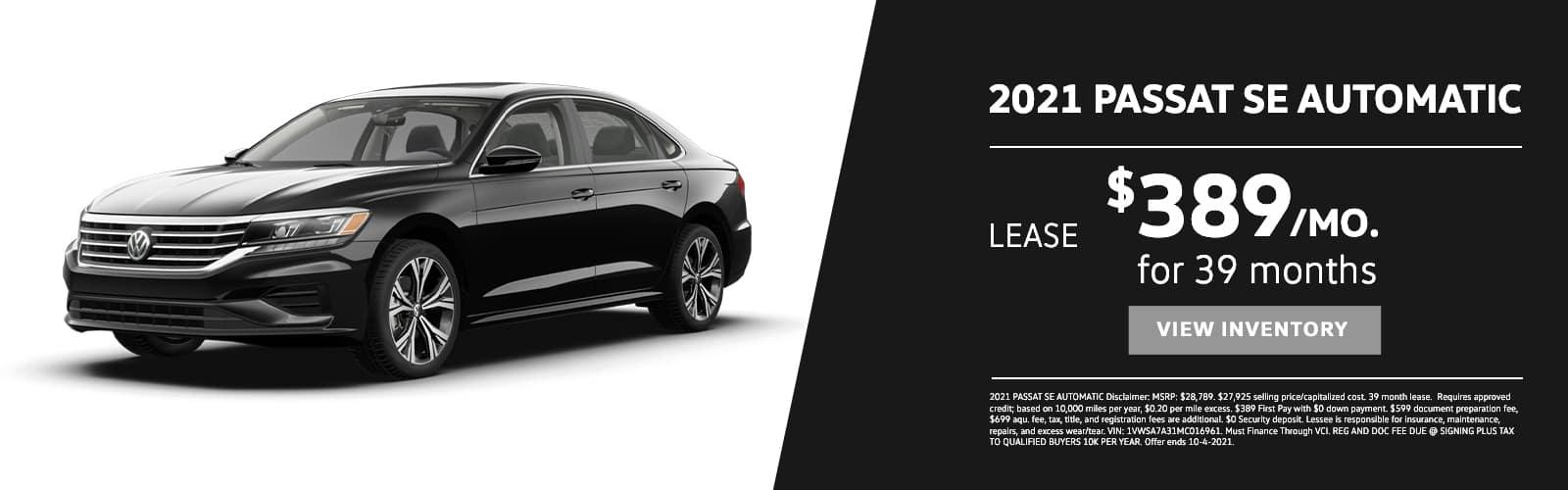 EAG_VW_2021 PASSAT SE AUTOMATIC