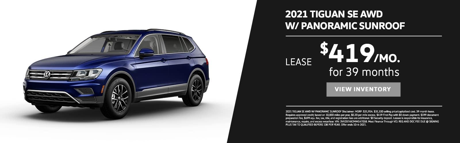 EAG_VW_2021 TIGUAN SE AWD W_ PANORAMIC SUNROOF