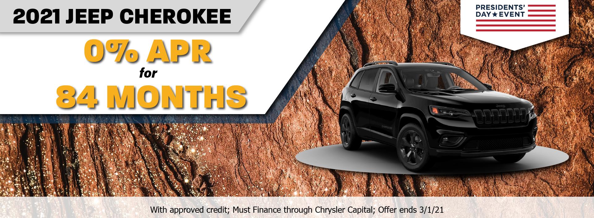 2021 Jeep Cherokee Feburary