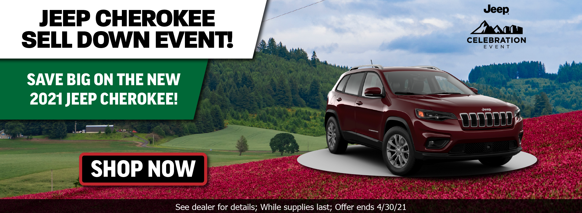 Jeep Cherokee Sell Down April
