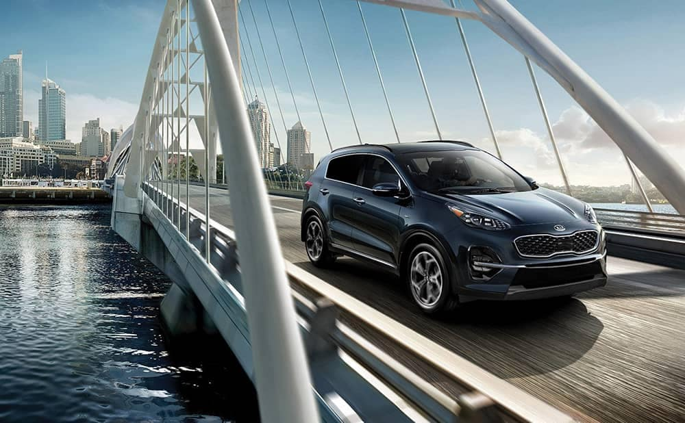 2020 Kia Sportage On Bridge
