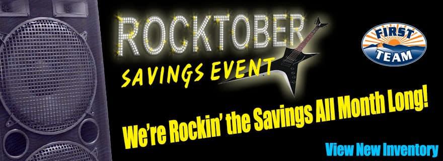 rocktober savings event