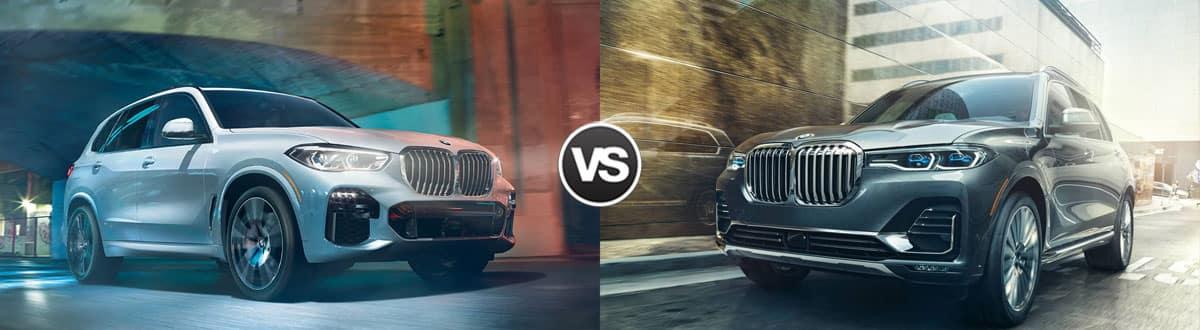 2019 BMW X5 vs 2019 BMW X7