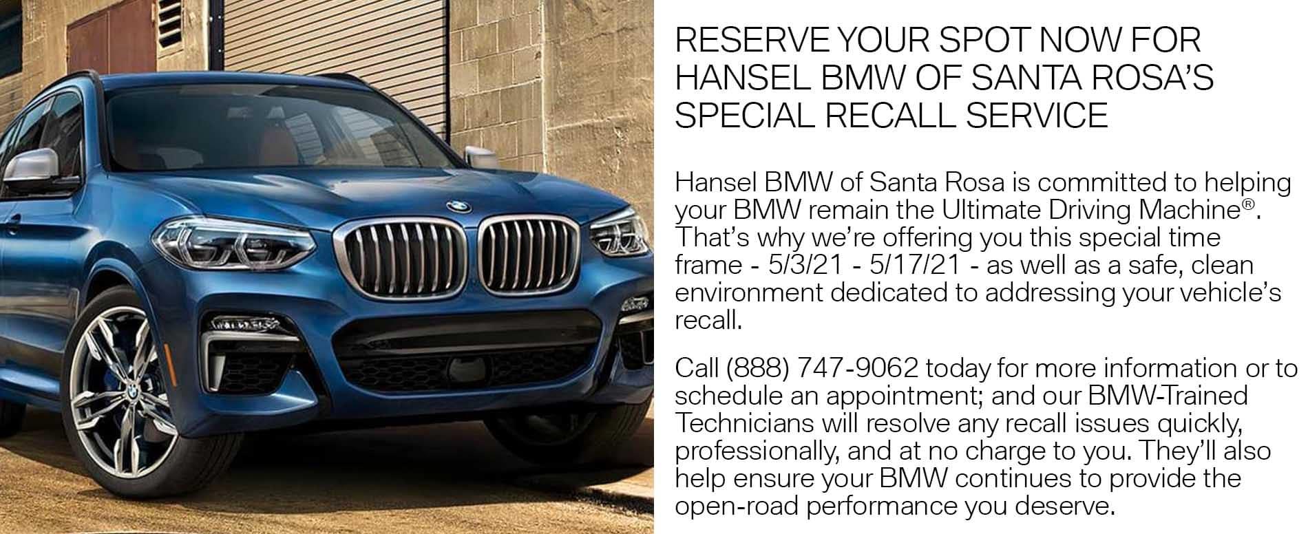 BMW Recall Service