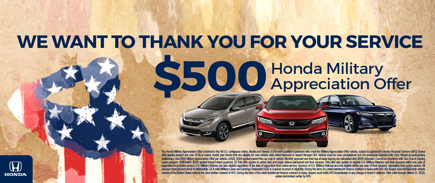 military offer hendrick honda woodbridge