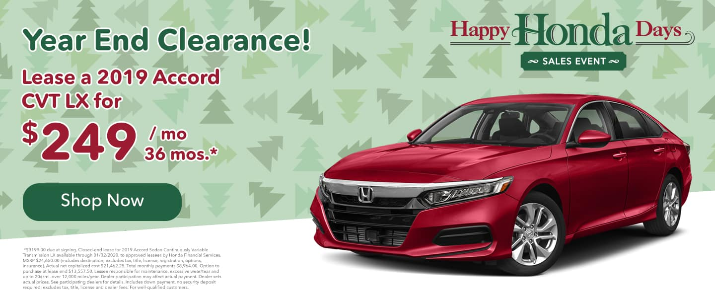 accord lease for $249/mo. for 36 mos.