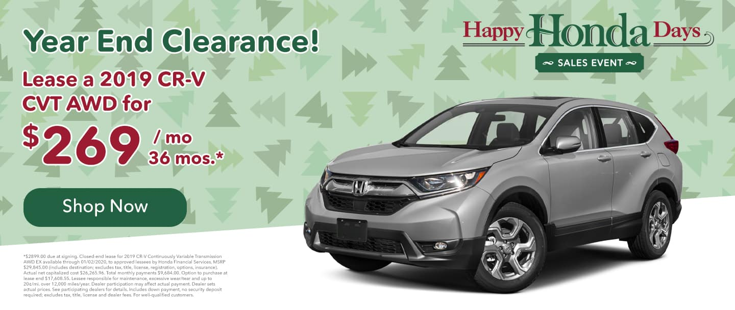 lease a crv for $269/month for 36 months crv lease specials