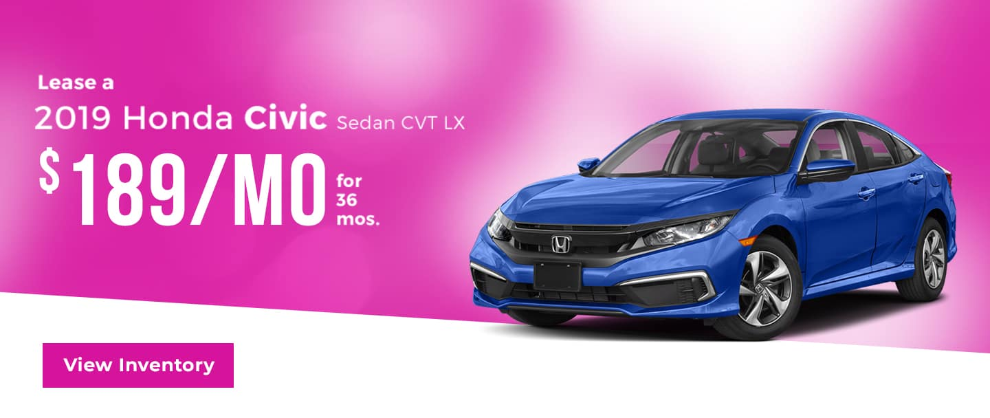 lease a civic for $189/mo. for 36 mos.