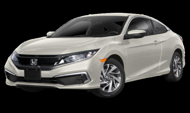 White Honda Civic Coupe
