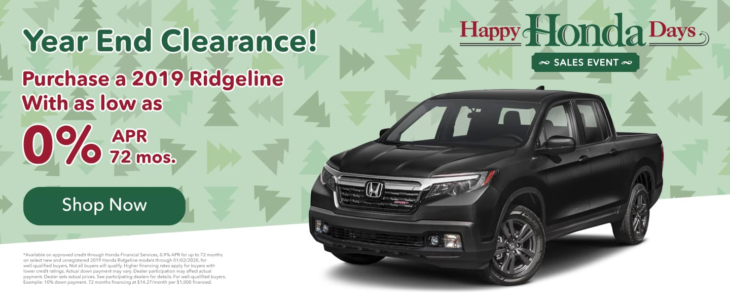 hendrick honda ridgeline purchase for as low as 0% apr for 72 mos. november special offer