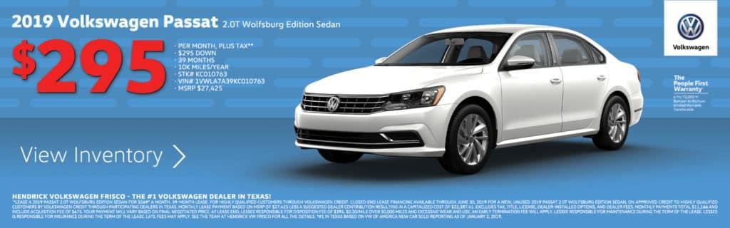 2019 Volkswagen Passat Special
