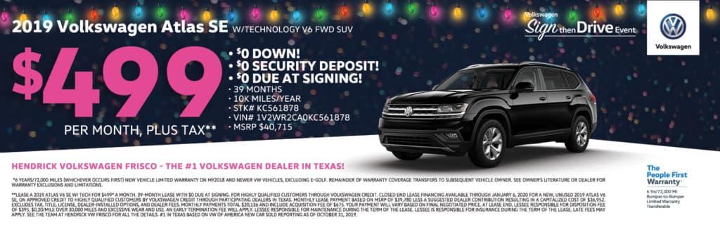 2019 Volkswagen Atlas V6 SE Special
