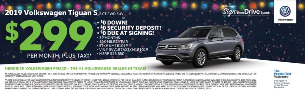 2019 Volkswagen Tiguan S Special