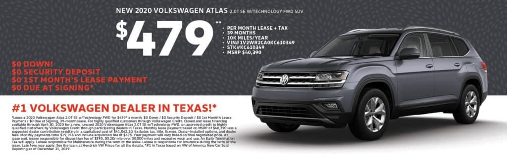 2020 Volkswagen Atlas 2.0T SE w/Technology FWD