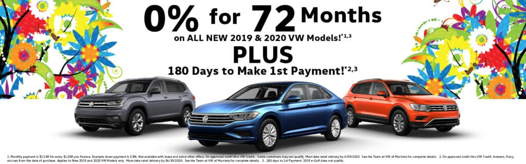 No Payments for 180 Days!