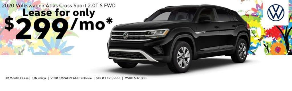 2020 Volkswagen Atlas Cross Sport 2.0T S FWD