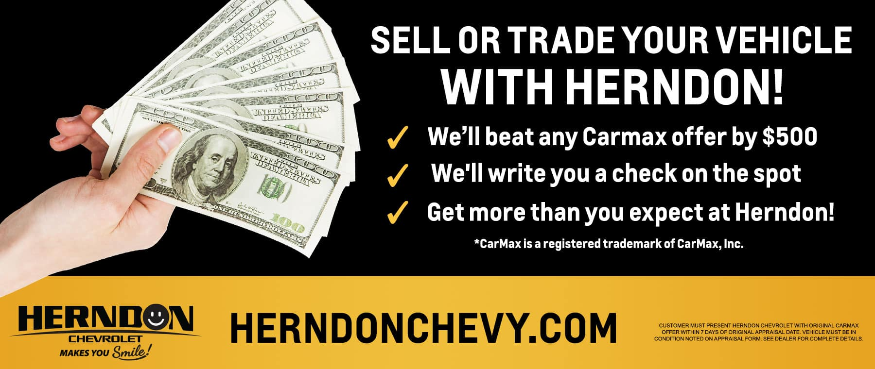 Sell or Trade Your Vehicle With Herndon Chevrolet