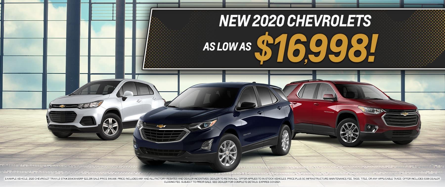 New 2020 Chevrolets