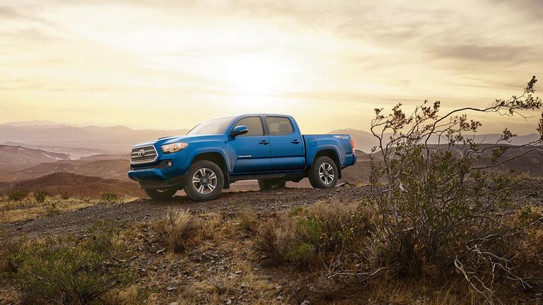 2017 Toyota Tacoma desert sunset