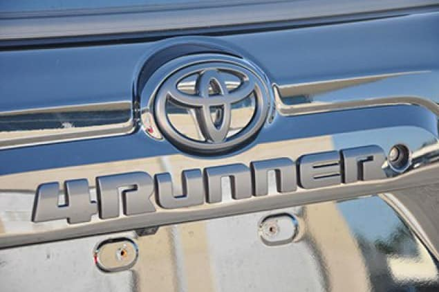 Toyota 4Runner Black Emblem Overlay - TRD Off Road