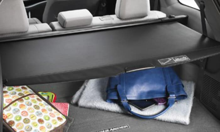 2017 Toyota Highlander Cargo Cover - Black