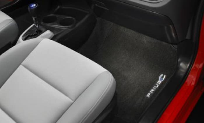 2017 Toyota Prius C Floor Mats - Carpet Dark Gray