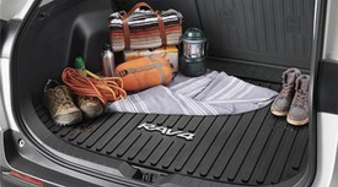 2017 Toyota Rav4 Cargo Liner - Black - Without Subwoofer