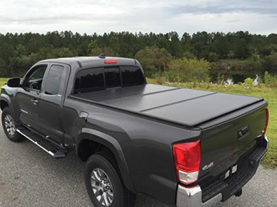 2019 Toyota Tacoma 4X2 Tri-Fold Hard Tonneau Cover with LED Lights