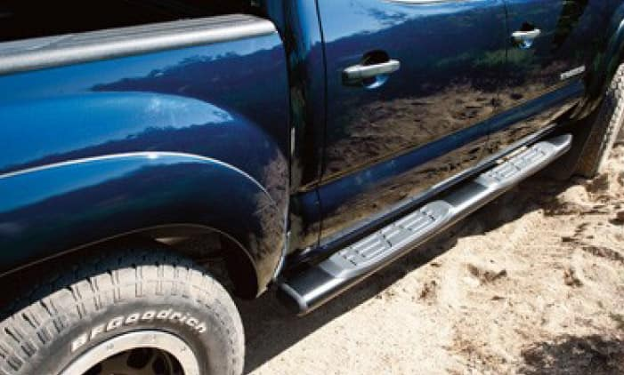 2019 Toyota Tacoma 4X4 5-Inch Oval Tube Steps - Chrome - Long Bed Double Cab