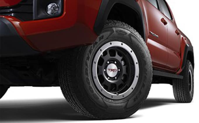 2019 Toyota Tacoma 4X4 TRD 16-Inch Off-Road Beadlock-Style Wheels - Black (Tires not included)