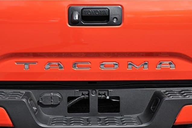 2019 Toyota Tacoma 4X4 Chrome Tacoma Tailgate Inserts