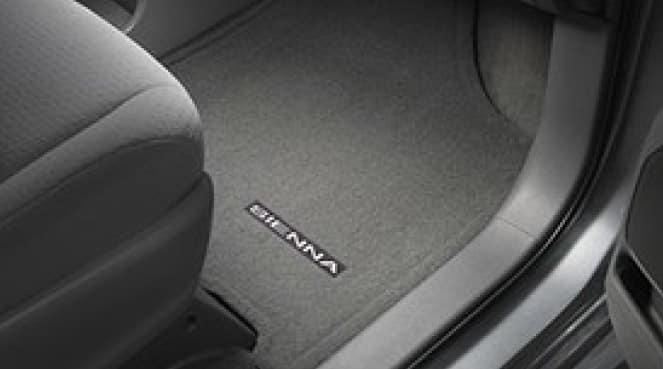 2019 Toyota Sienna Carpet Floor Mats - Gray - 7Pass - 8PC