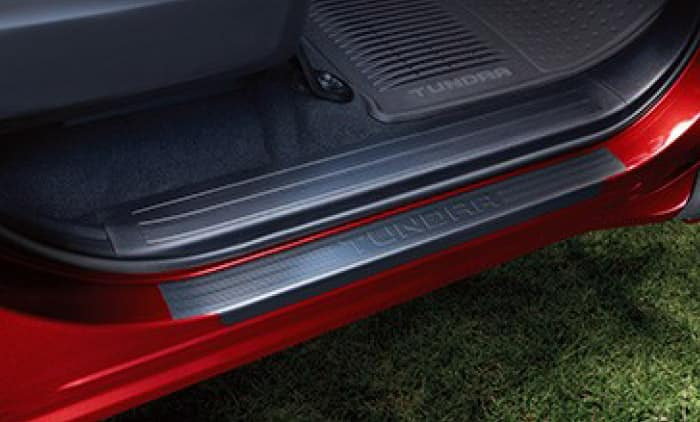 2019 Toyota Tundra 4X2 Door Sill Protectors - Black - Front and Rear - Platinum