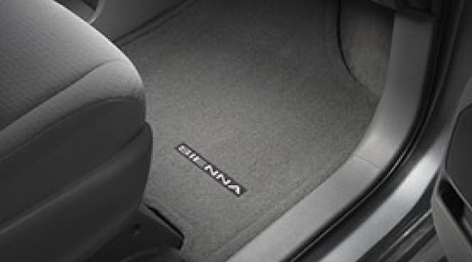 2019 Toyota Sienna Carpet Floor Mats - Gray - 7Pass - 8PC - Fixed Console