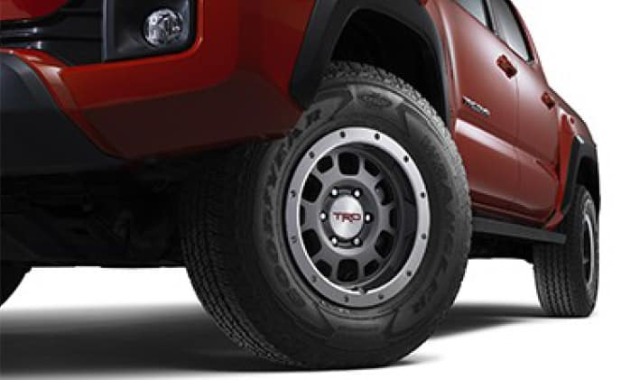 2020 Toyota Tacoma 4X2 TRD 16-inch Off-Road Beadlock-Style Alloy Wheel - Graphite (Tires not included)