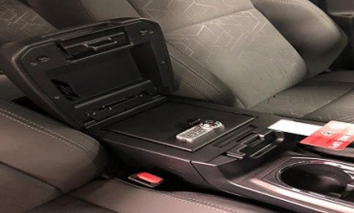 2020 Toyota Tacoma 4X2 Center Console Safe