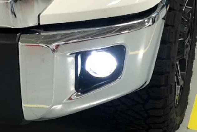 2020 Toyota Tundra 4X2 2 in 1 LED Projector Fog Lights w/LED DRLs