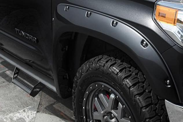 2020 Toyota Tundra 4X2 Color-Key Pocket Fender Flares w/Black Rivets- 01D6
