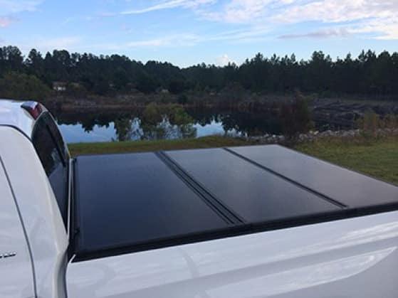 2020 Toyota Tundra 4X2 5.5 Tri-Fold Hard Tonneau Cover with LED Lights