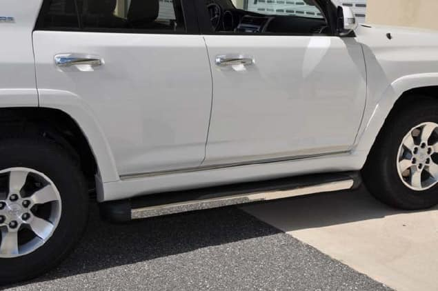 Toyota 4Runner Running Boards with Chrome Edge