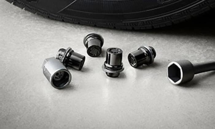 2020 Toyota Tacoma 4X2 Alloy Wheel Locks - Black PVD
