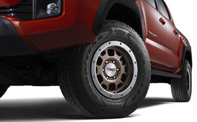 2020 Toyota Tacoma 4X2 TRD 16-in. Off-Road Beadlock-Style Alloy Wheels - Bronze (Tires not included)