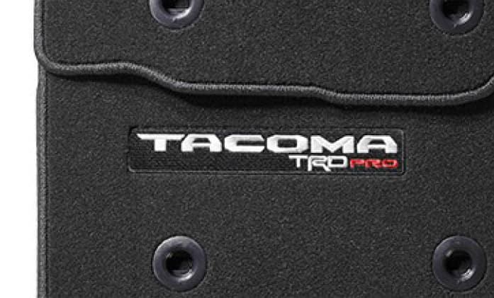 2020 Toyota Tacoma 4X2 Carpet Floor Mats - Black - TRD PRO - Automatic