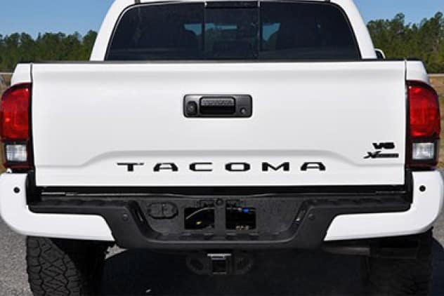 2020 Toyota Tacoma 4X2 Gloss Black Overlays and Tailgate Insert